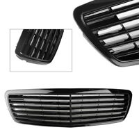 Front Radiator Grille Grill Cover Glossy Black For Mercedes Benz W211 E320 02-06