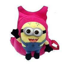 Minion Plush Kid BackPack - rose pink
