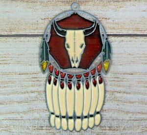 Vintage Suncatcher Cow Skull Dreamcatcher Tribal Window Decoration Ornament