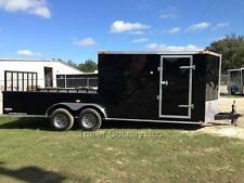 New 2021 7X20 7 X 20 Hybrid Enclosed & Utility Cargo Motorcycle Hunting Trailer