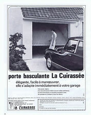 PUBLICITE ADVERTISING 054 1969 LA CUIRASSEE porte basculante de garage