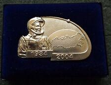 SOVIET CCCP plaque GAGARIN 1934-2004  70TH ANNIVERSARY  GAGARIN  boxed RARE
