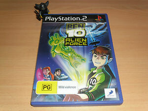 Ben 10 Alien Force (black label) PlayStation 2 - PAL Format - Complete