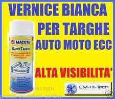 PITTURA BIANCO TARGHE VERNICE SPRAY TUNING X TARGA AUTO COLORE PERLA UNIVERSALE
