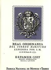DOCUMENTO FILATELICO F.N.M.T. Nº2 ESPAMER 77 1 MATASELLO