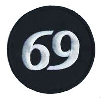 Patch écusson patche 69 soixante neuf badge transfert thermocollant