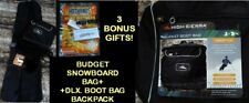 NEW DELUXE HIGH SIERRA SNOWBOARD SLEEVE/BAG & BOOT BAG COMBO-COLOR CHOICES