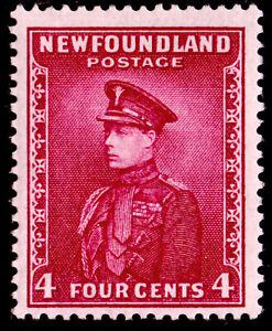 Newfoundland #189 4c Prince of Wales (1932-37), Rose Lake, Wmk 224, MVLH