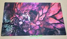 C104 Free Mat Bag Akiza Izinski Black Rose Dragon Custom Playmat Yugioh Play Mat