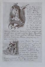 Eine Seite der Chronik Initialen von Joh. Fr. ENGEL Originaldruck aus 1918 print