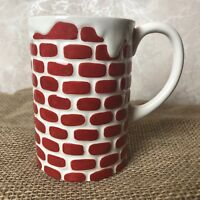 Dept 56 Time to Celebrate Chimney Cocoa Mug red white ceramic winter christmas