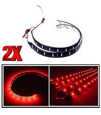 2x Rojo 30cm 12LED SMD 3528 Strip Funcionamiento DRL Coche Casa Luz Impermeable