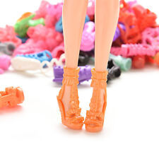 30X 15Pair High Heel Sandals Shoes For Barbie Doll Toy Princess Dress Clothes6O0