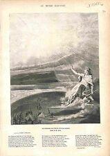 Transit of Venus across the Sun Astronomy Allegory Allegorie FRANCE GRAVURE 1883