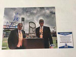 Mike Krukow Duane Kuiper Signed Autographed GIANTS 8x10 Photo BECKETT BAS COA h