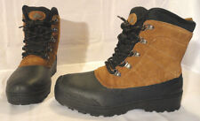 OZARK TRAIL, MENS BROWN LEATHER -5F INSULATED WINTER BOOTS SIZE 9, NEW FREE SHIP