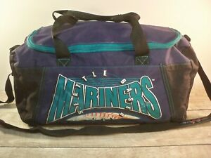 Vintage 90s Seattle Mariners Carry On Weekender Overnight Travel Duffle Bag Pack