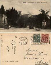 Firenze, Viale dei colli visto dal piazzale michelangelo, bella animata 1924