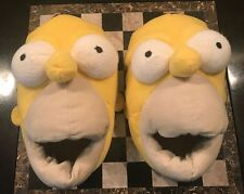 Homer Simpson Slippers Yellow Adult Size 7-8 Official Novelty Plush Nearly New
