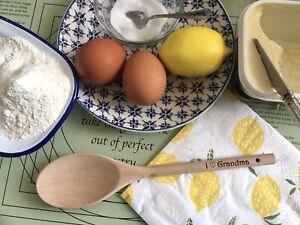 Personalised Wooden Spoon Baking Grandma Nanna Mum Cook Gift Birthday Present
