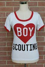 "Women's short sleeve ""Boy Scouting"" T-shirt by Freeze White/Red Sz XS $24.00"