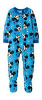 NEW BOYS TODDLER MICKEY MOUSE BLANKET SLEEPER BLUE PAJAMAS PJS SIZE 2T FOOTED