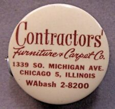 c. 1947 CONTRACTORS FURNITURE & CARPET CO. Chicago IL. celluloid tape measure