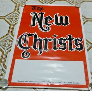 New Christs (Radio Birdman members) poster Black Hole era  1987 original poster