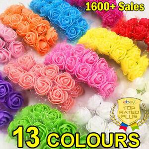144 Pcs Foam Mini Roses Head Small Flowers Wedding Home Party Decorations UK