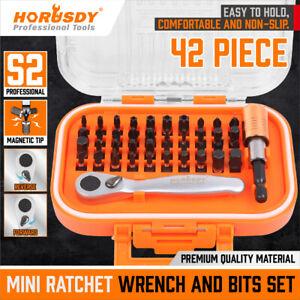 42Pcs Mini Ratchet Wrench Screwdriver Hex Torx Bit Quick Change S2 Extension Bar