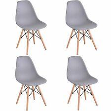 Pack 4 Sillas de comedor Gris Silla Diseño Nórdico Retro Estilo Tower