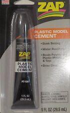 Zap Plastic Model Cement 1 Fl. oz Tube W/ self Opening Top Pt-104