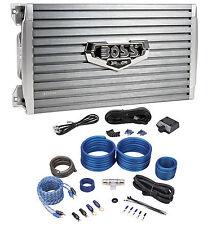 Boss Armor AR3000D 3000W Mono Car Audio Class D Amplifier+Bass Remote+Amp Kit