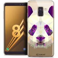 "Coque Housse Etui Pour Galaxy A8 (2018) A530 (5.6"") Polygon Animal Souple Fin Pa"