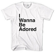 The Stone Roses I Wanna Be Adored Text Unisex T-Shirt All Sizes