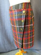 Ladies mini skirt, MONSOON, size 8, tartan look, asymmetric style