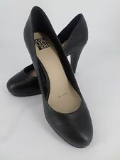 Debenhams Collection Black Leather Snake Skin Court Shoes UK4 EU37 LN17 66 SALEx