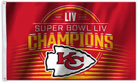 Kansas City Chiefs Super Bowl 54 Champions 3x5 Flag 2019 Superbowl Banner Champs