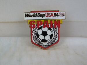 1994 World Cup of Soccer Pin - Spain Shield Design by Peter David - Metal Pin