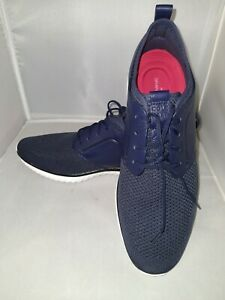 Men's Cole Haan  'Grand Motion'  Navy blue Leather Knit Sneaker size US 11 M