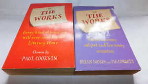 2 x poetry books The Works 1 & 2 a poem for every subject and occasion.