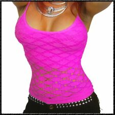 Netz TOP mini Kleid Träger-Top X-Trem Hot gogo dance sexy Party shirt