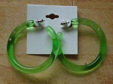 Große Ohrringe. Grün mit 4 Glitzersteinen. Ohrschmuck. Modeschmuck. Gei...5 cm+