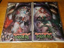 Harley Quinn & Poison Ivy #1 Tyler Kirkham variant set NM Mylar