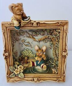 """Pendelfin Large 3D Framed """"The Village Pond"""" - Only 100 made!"""