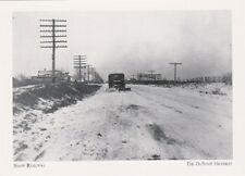 "*Postcard-""Snow Removal"" -1927-(Near Route 13/State Rd) Dupont Hwy/DE- (#217)"