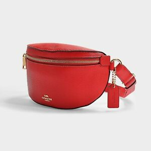 NEW Coach Belt Bag in Red Apple