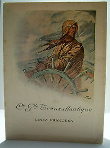 """Programme Compagnie Générale Transatlantique - Paquebot """"Macoris"""" - 10/08/1932"""