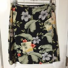 Tommy Bahama Tropical Print Wrap Skirt 100% Silk Size Small (= 4/6)