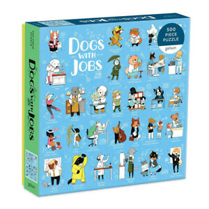 Dogs with Jobs 500 Piece Jigsaw Puzzle by Galison by Artist Eloise Narrigan